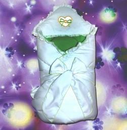 """Плед- конверт для новорожденного """"Сердечко"""""""