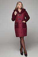 Зимнее женское пальто комбинированное плащевка с шерстью