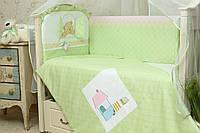 Защита в кроватку для новорожденных Клубничка