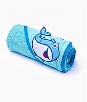 Детское махровое полотенце Sensillo с капюшоном 76х76 - blue
