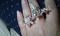 Серебряное дизайнерское кольцо 925 пробы