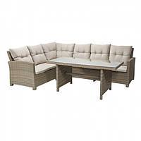 Комплект плетених меблів з ротангу CAPRIZE  GREY BRAUN  200х260 см + стіл