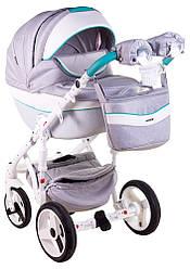 Детская коляска универсальная 2 в 1 Adamex Monte Deluxe Carbon D30 (Адамекс Монте, Польша)
