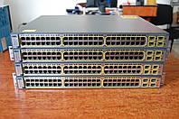 Cisco Catalyst WS-C3750-48PS-S , б/у управляемый коммутатор (свич) с PoE