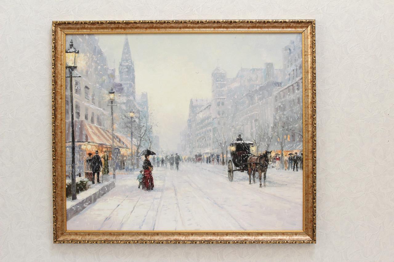 "Картина ""Город в снегу"""