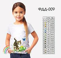 Пошитая футболка на девочку №009