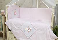 Детское сменное постельное белье в кроватку Мишка