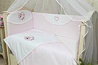 Комплект сменного постельного белья в кроватку Мотылек