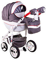 Детская коляска универсальная 2 в 1 Adamex Monte Deluxe Carbon D31 (Адамекс Монте, Польша)