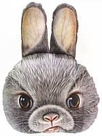 Большая 3D подушка Серый Кролик 40х50см (p-16)