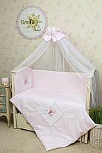 Детское постельное белье для новорожденных (6 предметов) Мишка