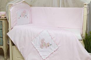 Набор постельного белья для новорожденных (без балдахина) Зайчик
