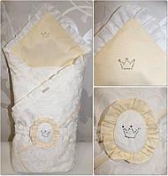 Плед конверт для новорожденных Анжелика