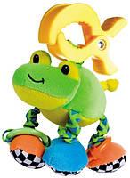 Мягкая вибрирующая игрушка-подвеска Лягушка, Canpol babies