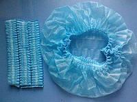 Одноразовая шапочка медицинская типа берет (Одуванчик)100шт голубая