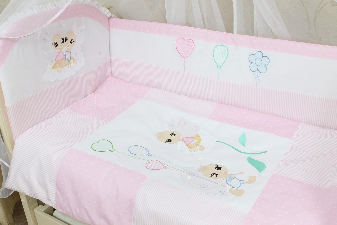 Защитный бампер в детскую кроватку Бусинка