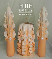 Свечи для семейного очага бежевого цвета, набор от ELITE CANDLES