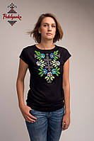 Жіноча блуза Самоцвіт синій, рукав-кімоно