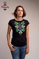 Жіноча блуза Самоцвіт синій, рукав-кімоно, фото 1