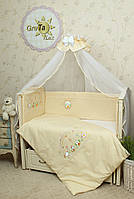 Постельное белье для новорожденных в кроватку Радуга