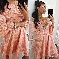 Платье с открытыми плечами Цвета Медея ЯЛ, фото 1