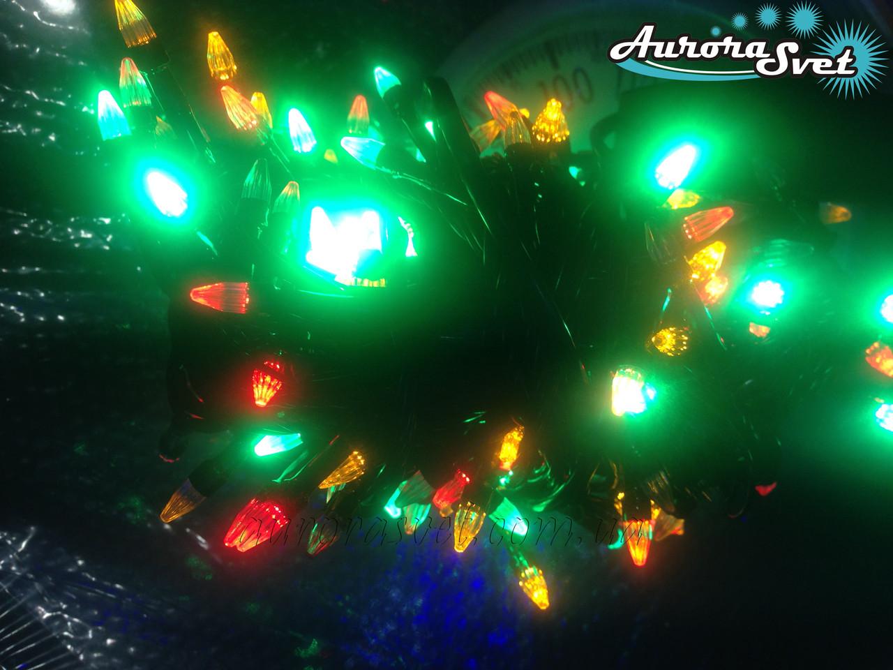 LED гирлянда от AuroraSvet mix color . Светодиодная гирлянда. Гирлянда LED.