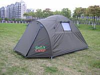 Палатка двухместная GreenCamp 3006 с тамбуром водонепроницаемая палатка походная