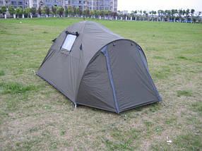 Палатка двухместная GreenCamp 3006 с тамбуром водонепроницаемая палатка походная, фото 3