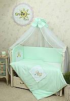 Детский набор постельного белья в кроватку Котик