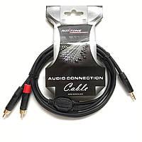 Готовый кабель Roxtone Mini Stereo Jack/ 2xRCA