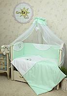 Постельное белье для новорожденных в кроватку Мотылек