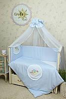 Комплект постельного белья в детскую кроватку Улитка