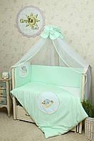 Набор постельного белья в детскую кроватку Улитка
