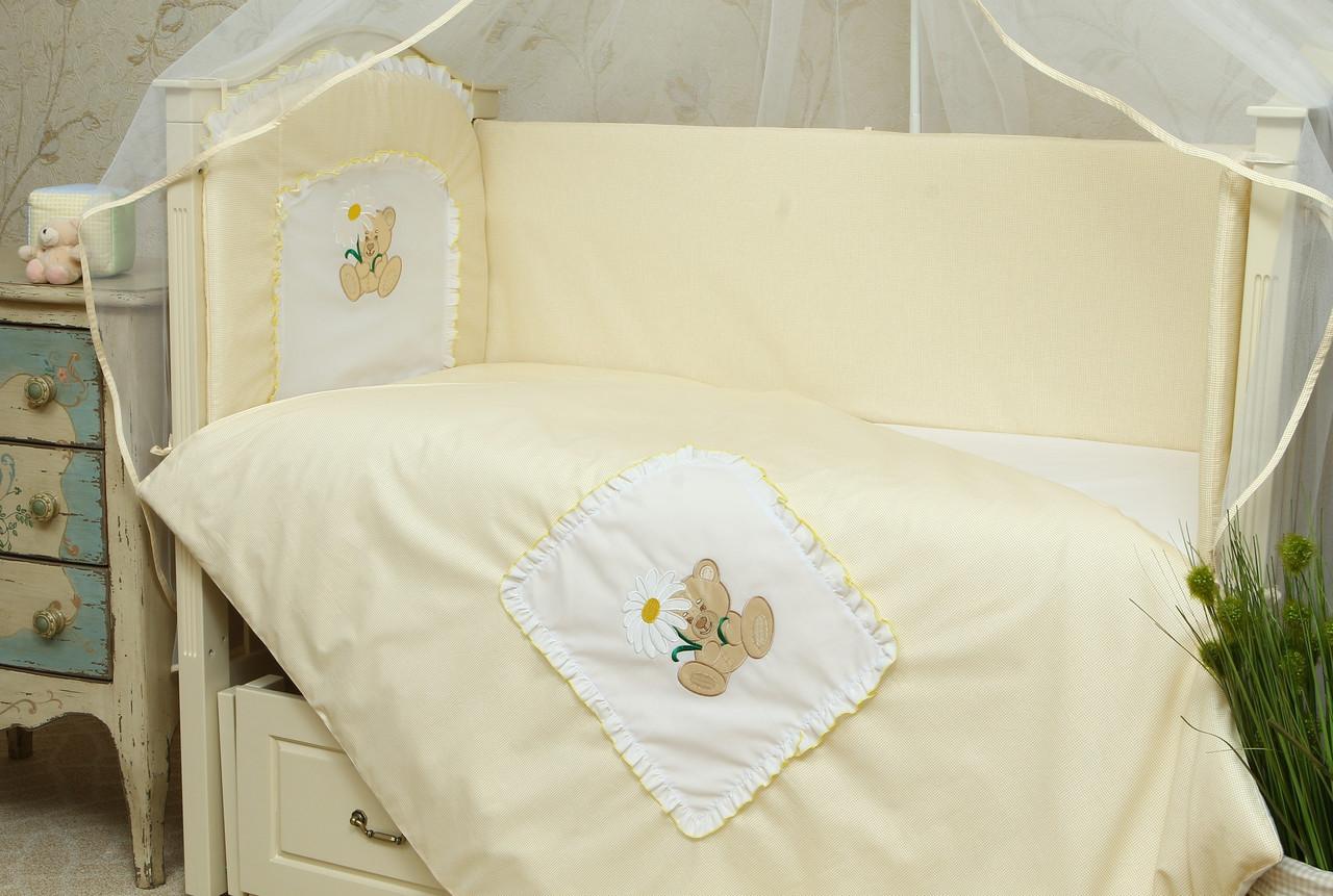 Сменное постельное белье в детскую кроватку Мишка