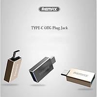 Переходник OTG - Remax RA-OTG1 с Type-c папы на USB мама