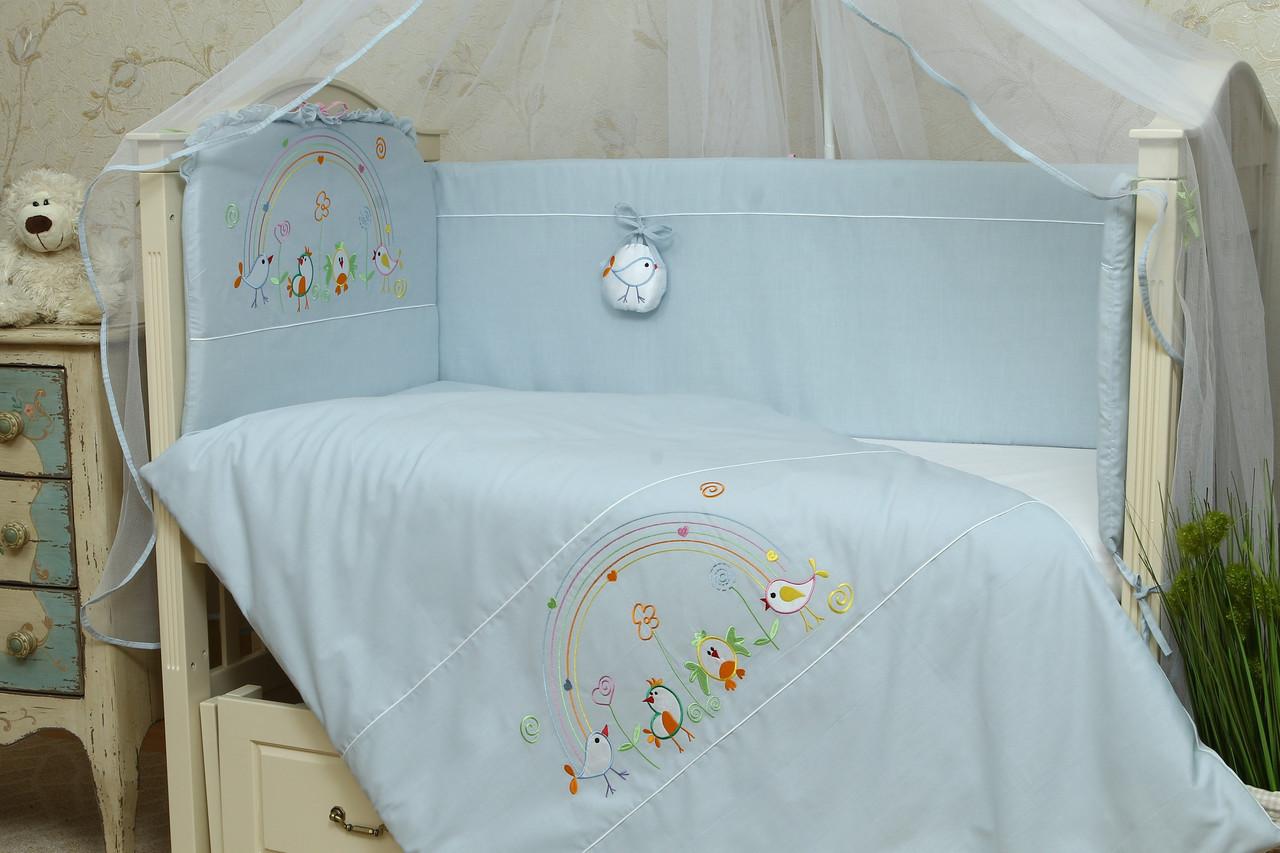 Бортики в дитячу ліжечко Веселка
