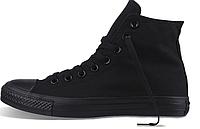 Мужские кеды Converse Chuck Taylor All Star высокие (конверс высокие) чёрные