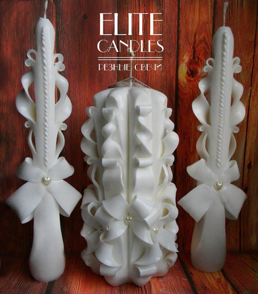 Набор свадебных свечей белого цвета от ELITE CANDLES