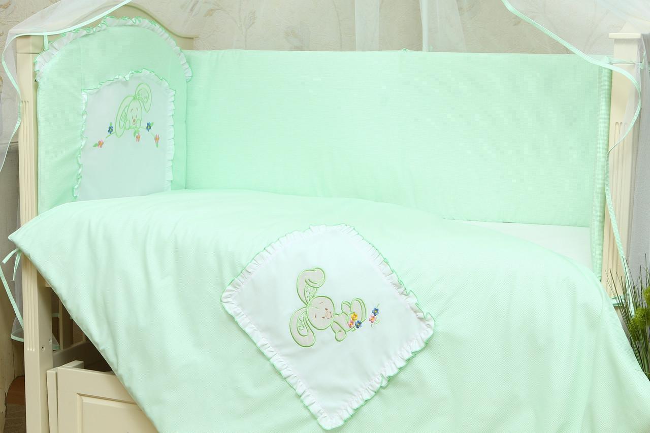 Детский постельный набор в кроватку Зайчик