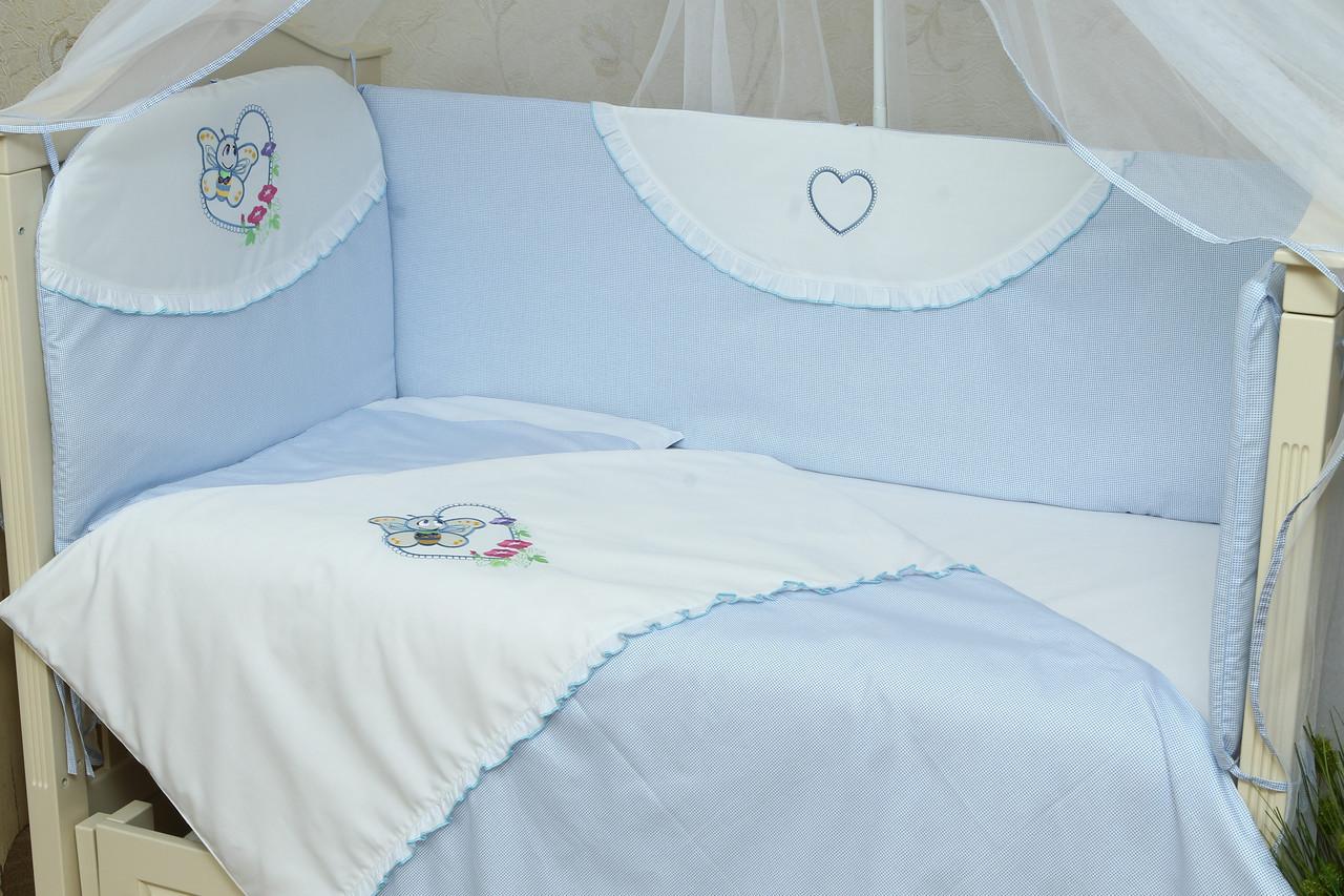Набор постельного белья в детскую кроватку Мотылек