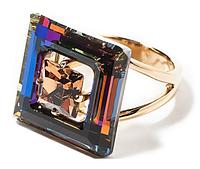 """Кольцо """"Центариус"""" с кристаллами Swarovski, покрытое золотом (b828p070) (Немного поцарапаное)"""