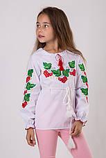 Вышитая блуза для девочки с калиной, фото 2
