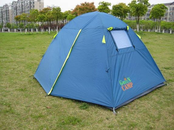 Палатка двухместная GreenCamp 1001B туристическая походная 2,1х2х1,35 м., фото 2