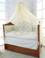 Версаль- набор постельного белья Greta Lux из 7 пр. шампань