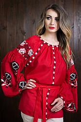 """Яркая женская вышиванка в стиле """"Бохо"""" с длинными рукавами"""