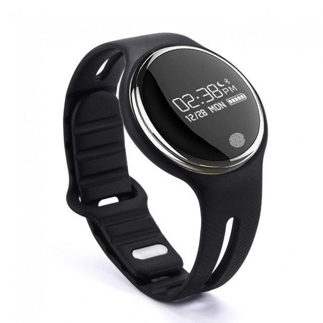 55cbc2dd Часофон -смарт часы Фитнес браслет Watch Makibes E07 черные Bluetooth 4.0  влагозашита IP67 черные -