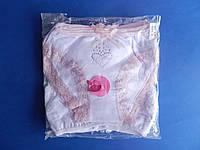Трусы (размер S) для девочек Белые с розовым гипюром