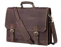 Мужской портфель из натуральной кожи Tiding Bag GA2095R, коричневый
