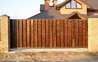 Откатные ворота (Дерево в метале)