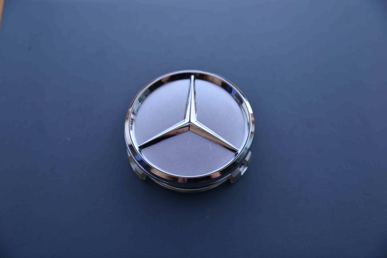 Колпачки заглушки на литые диски в диски Mercedes Мерседес (60/56/10) серебро